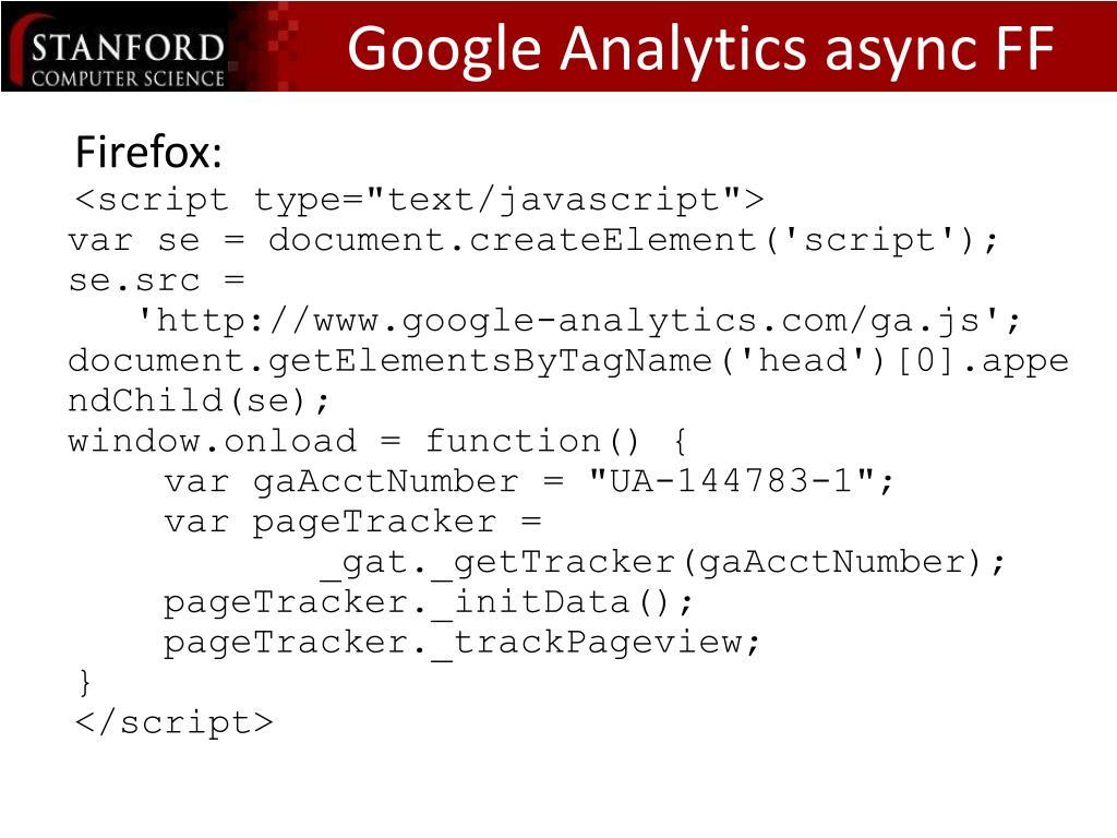 Google Analytics async FF