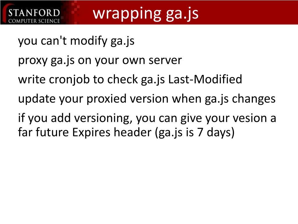 wrapping ga.js