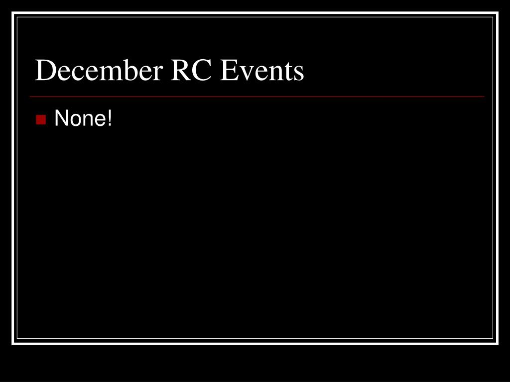 December RC Events