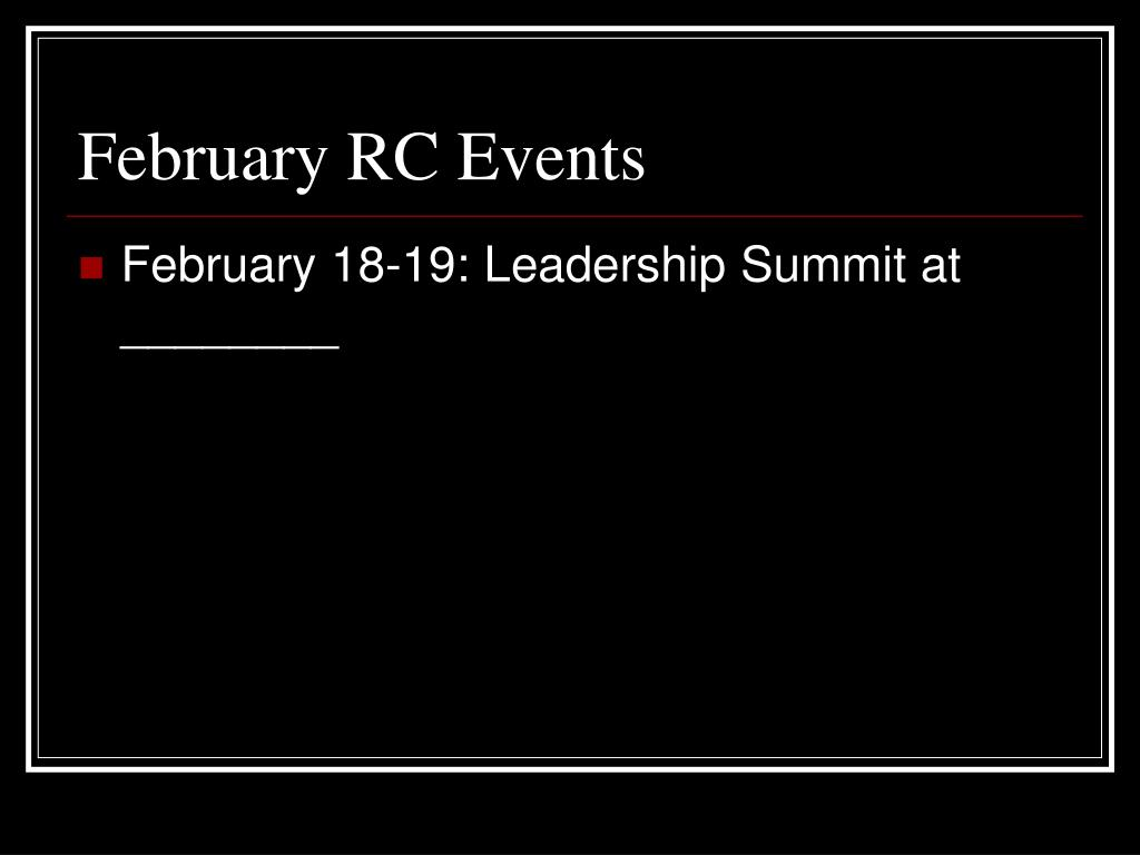 February RC Events