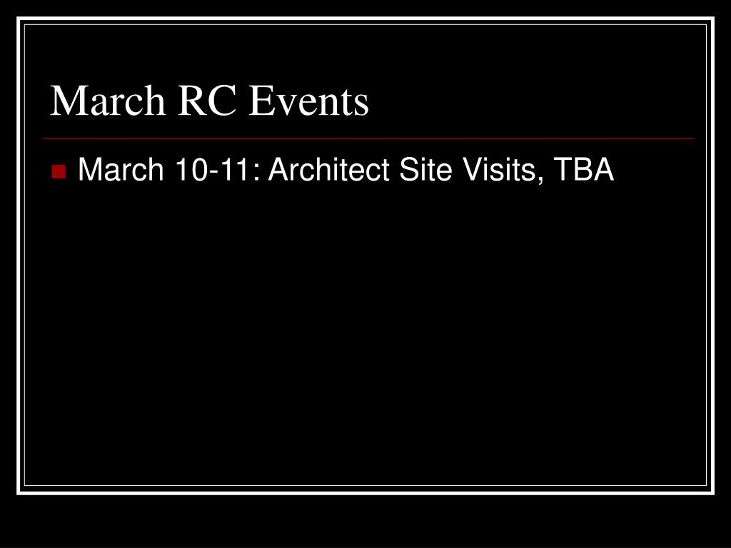 March RC Events