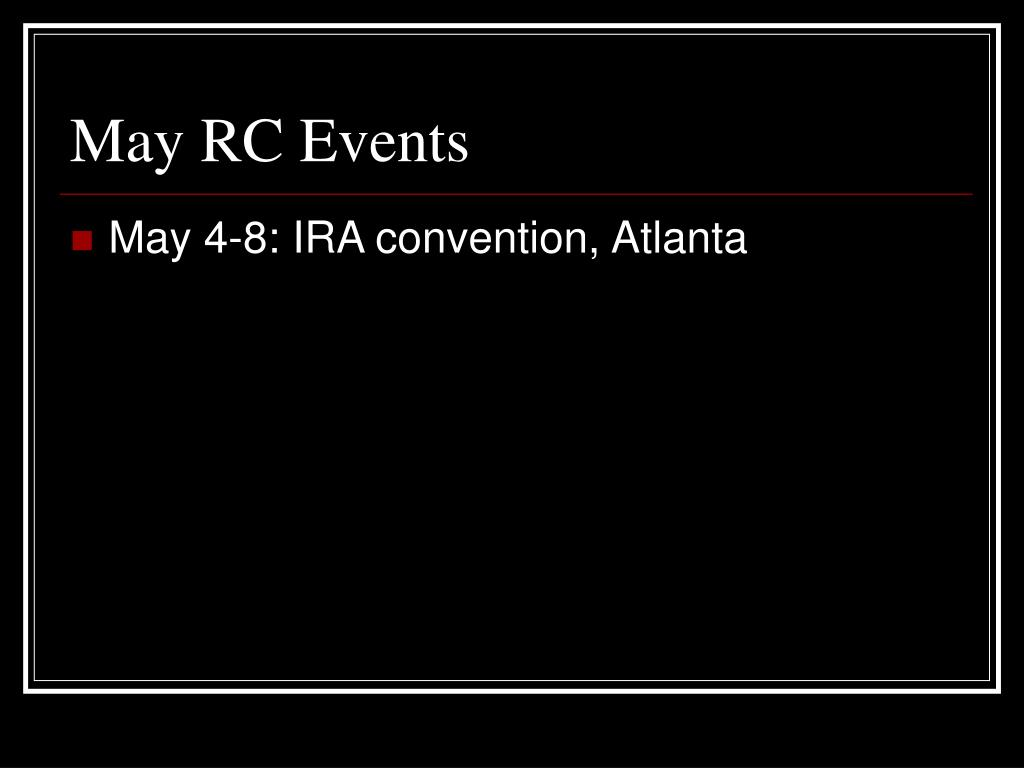 May RC Events