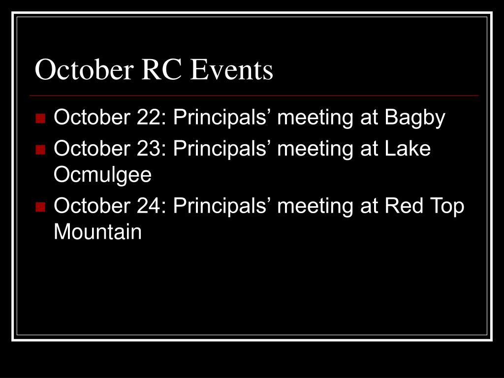 October RC Events