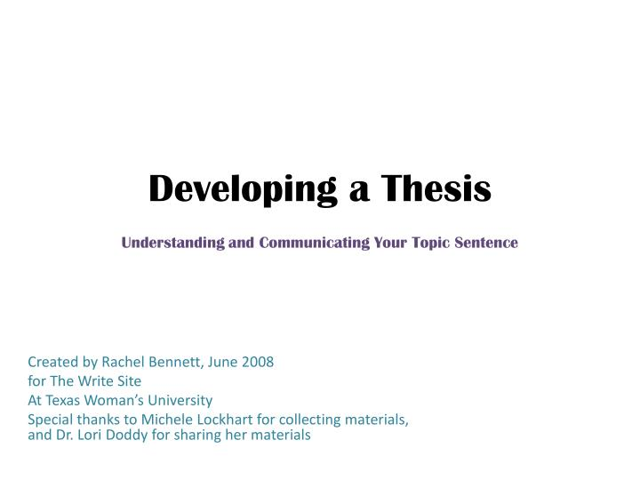 thesis on development finance