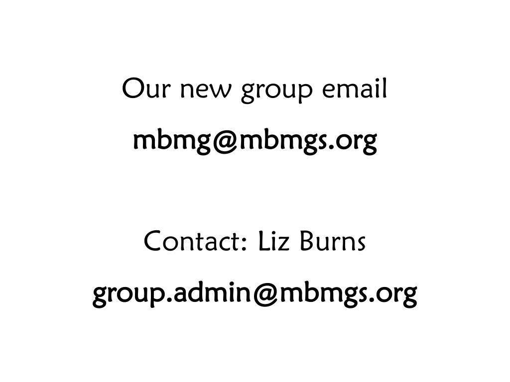 Our new group email