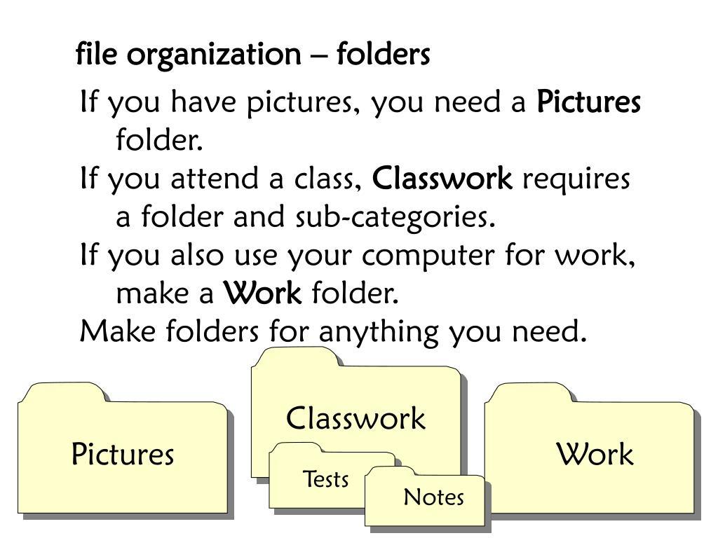 file organization – folders