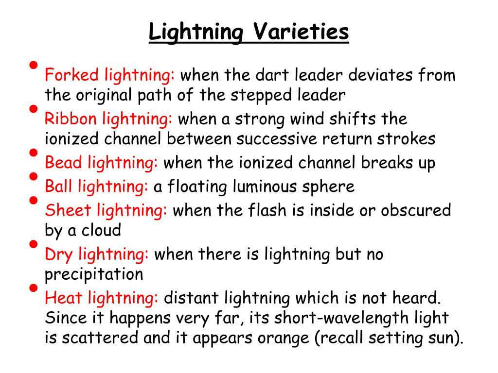 Lightning Varieties