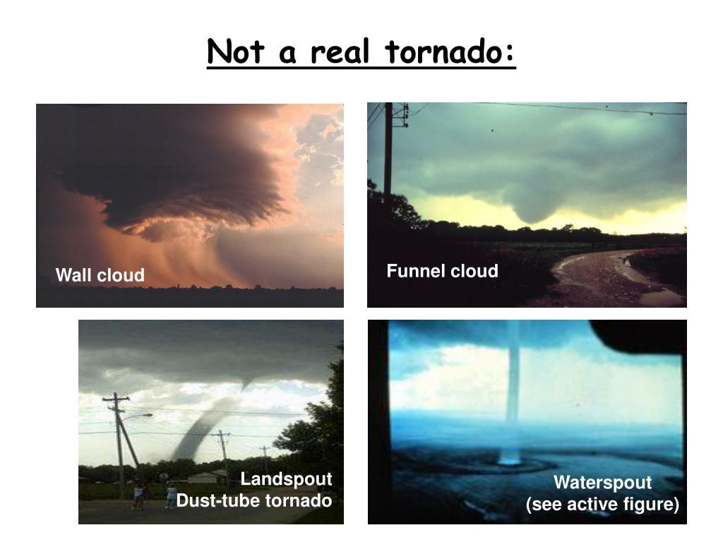 Not a real tornado: