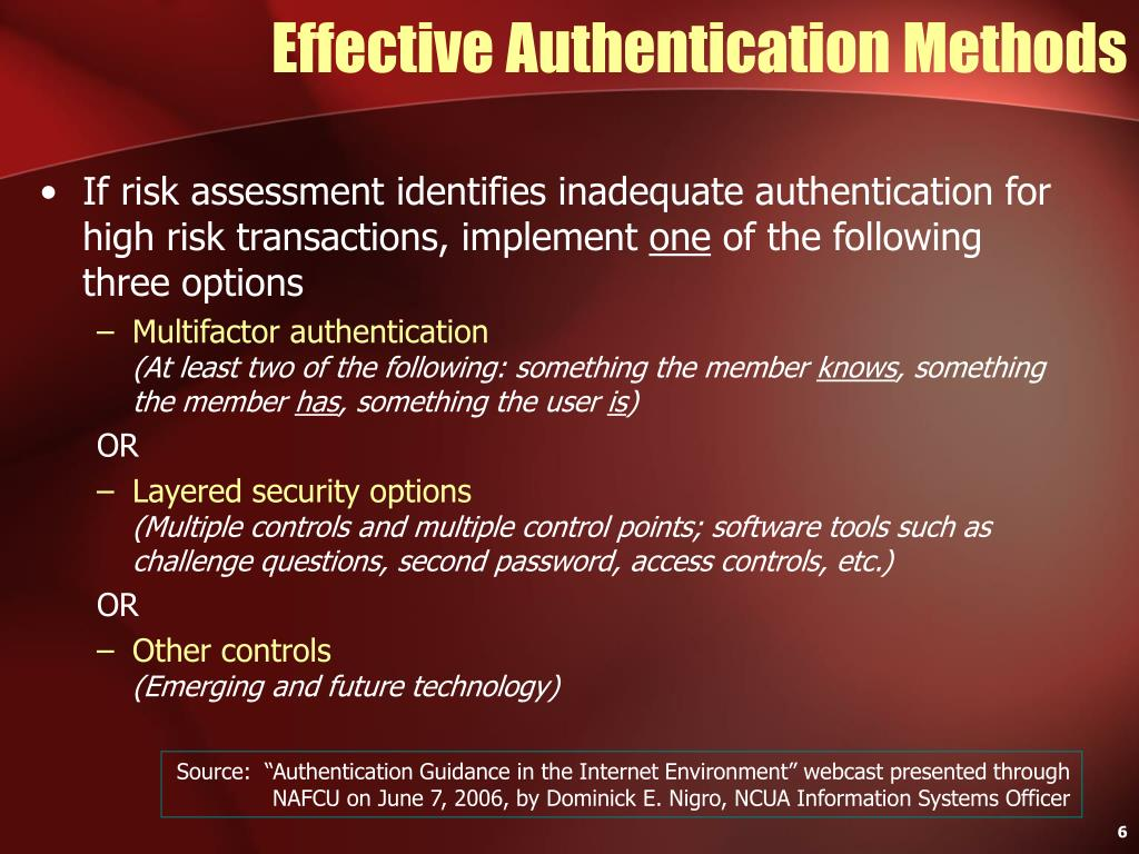 Effective Authentication Methods