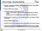 silicon image benefits realized