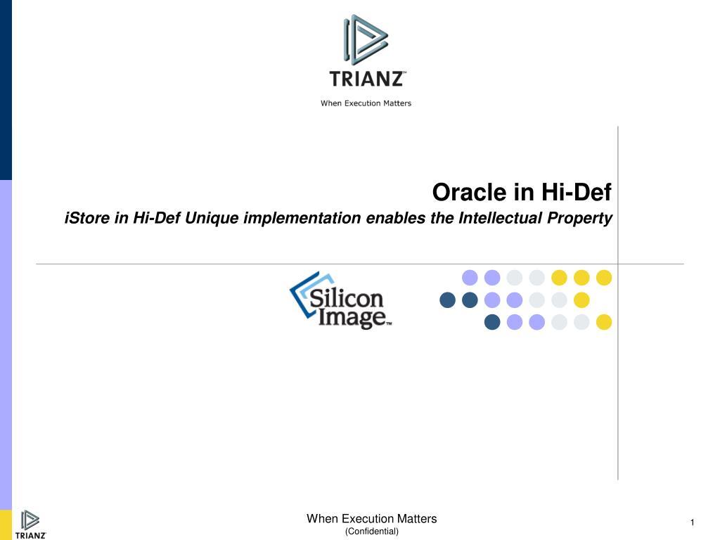Oracle in Hi-Def