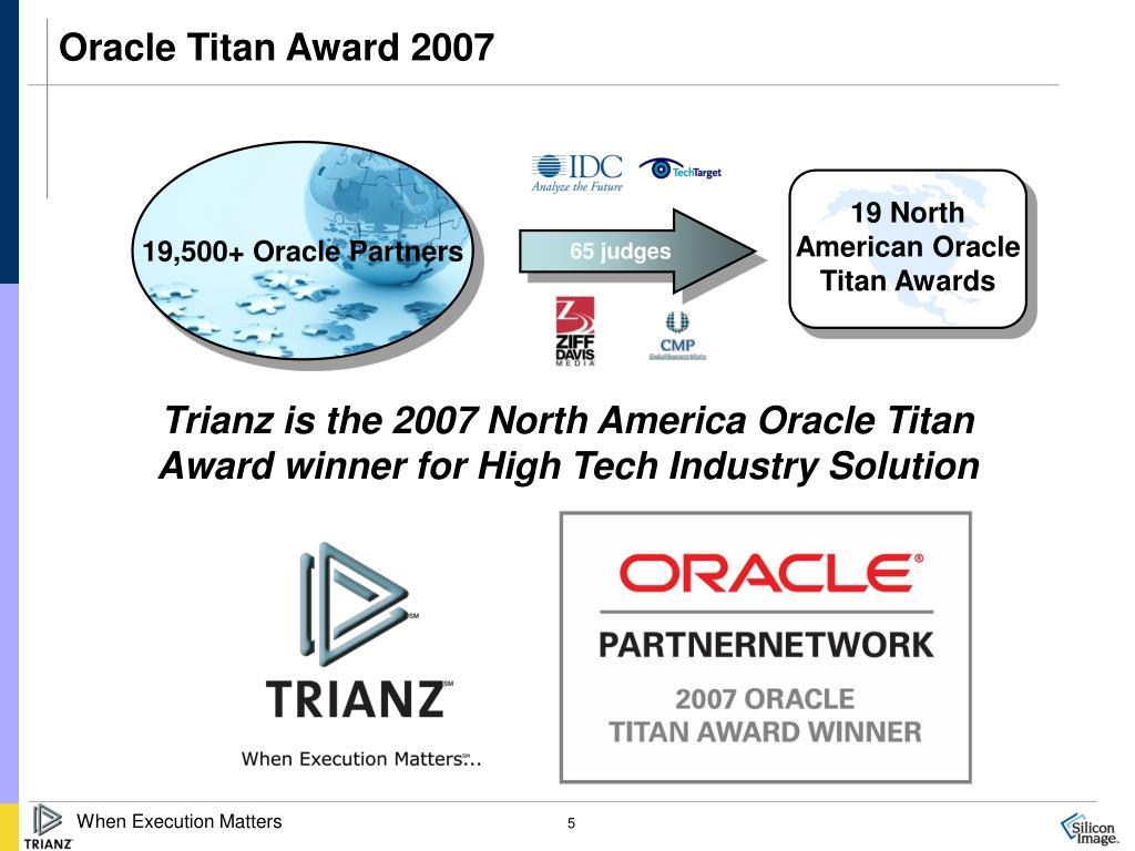 Oracle Titan Award 2007