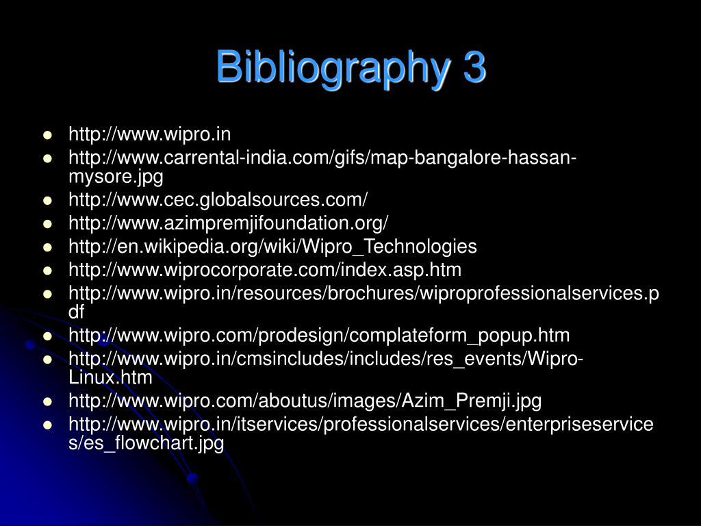 Bibliography 3