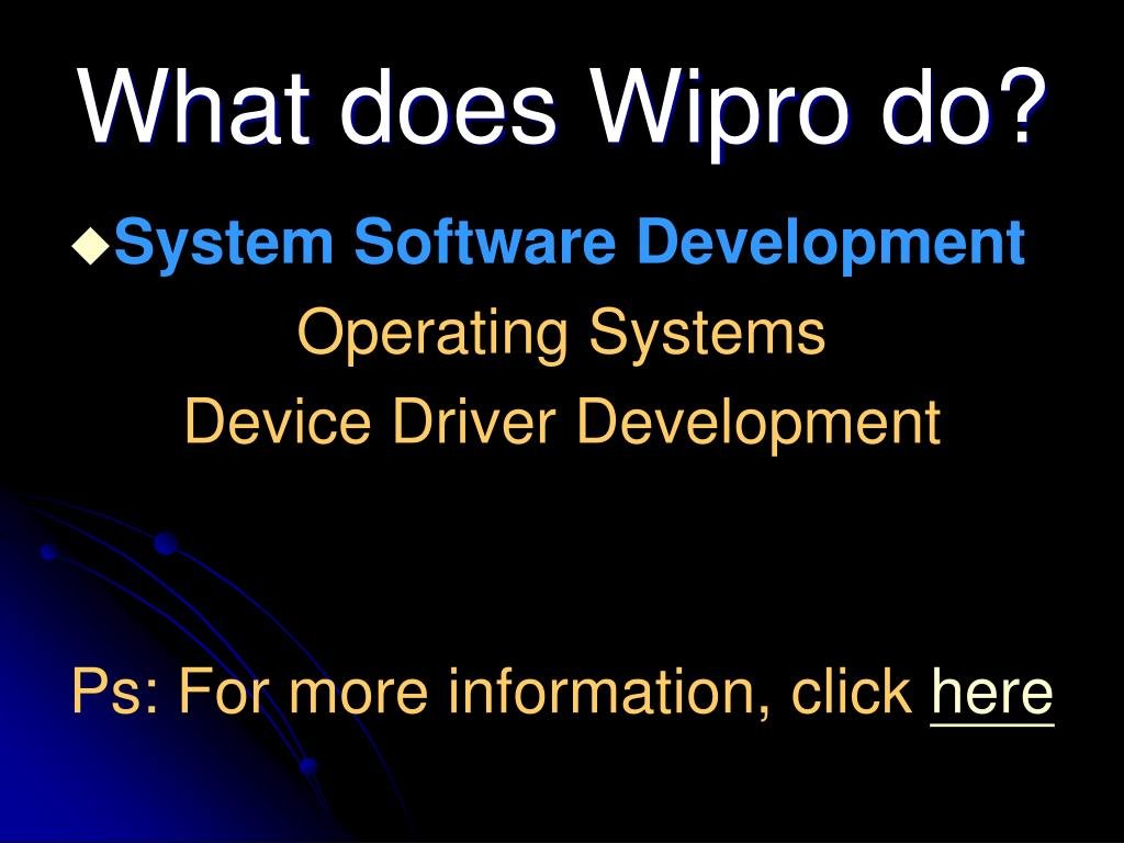 What does Wipro do?