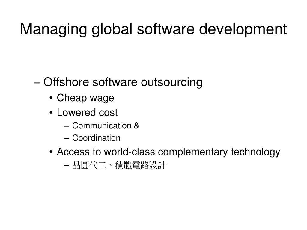 Managing global software development