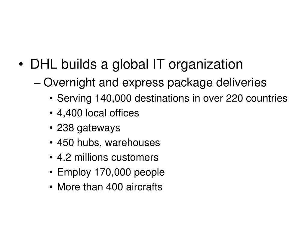 DHL builds a global IT organization