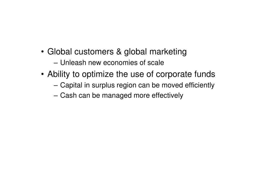 Global customers & global marketing