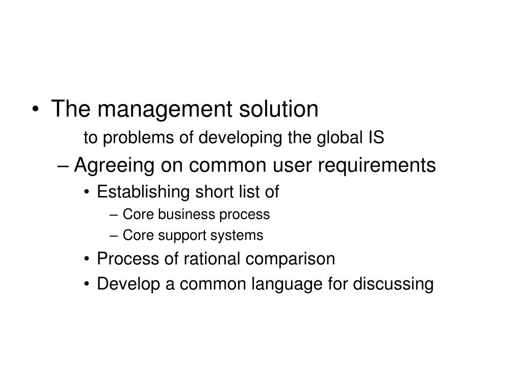 The management solution