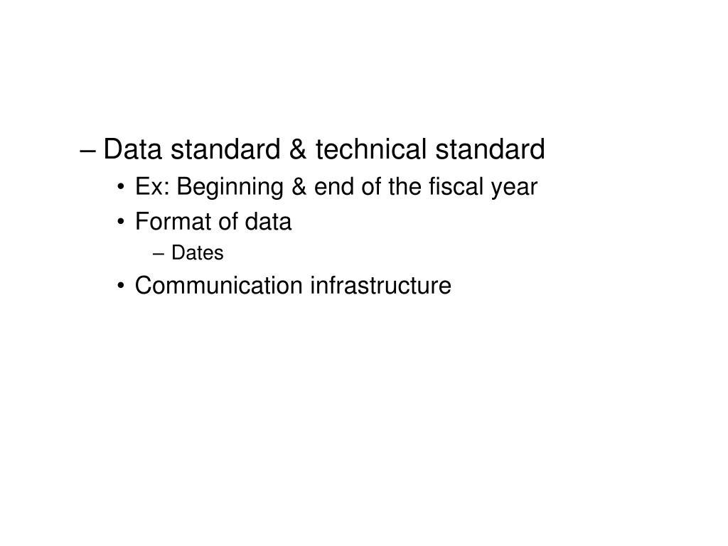 Data standard & technical standard
