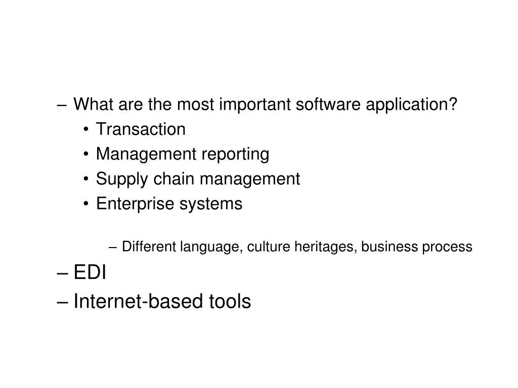 What are the most important software application?