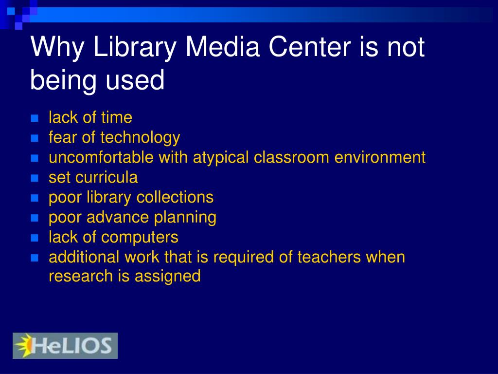 Why Library Media Center is not being used