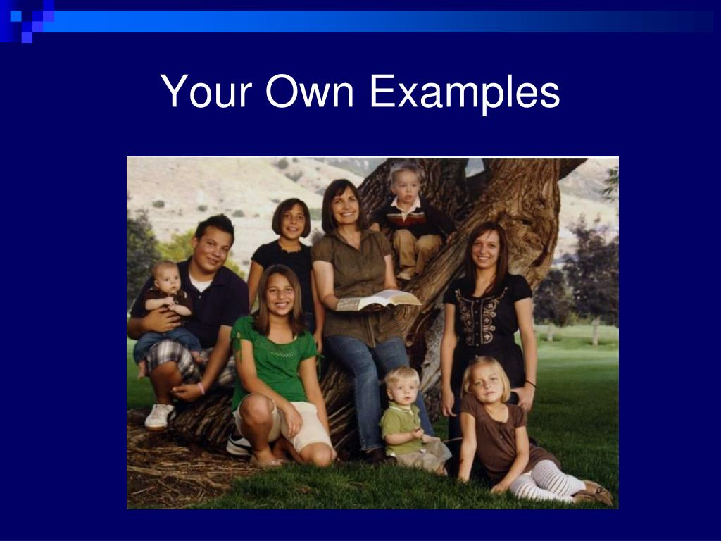 Your Own Examples