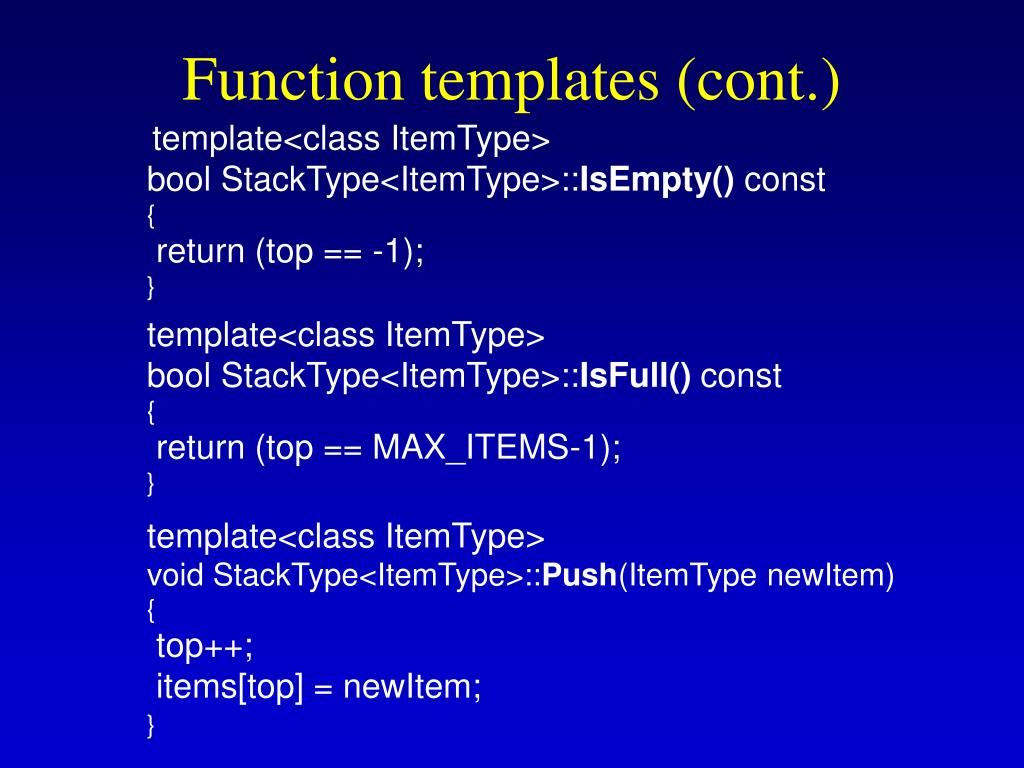Function templates (cont.)
