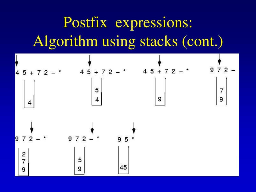 Postfix  expressions:
