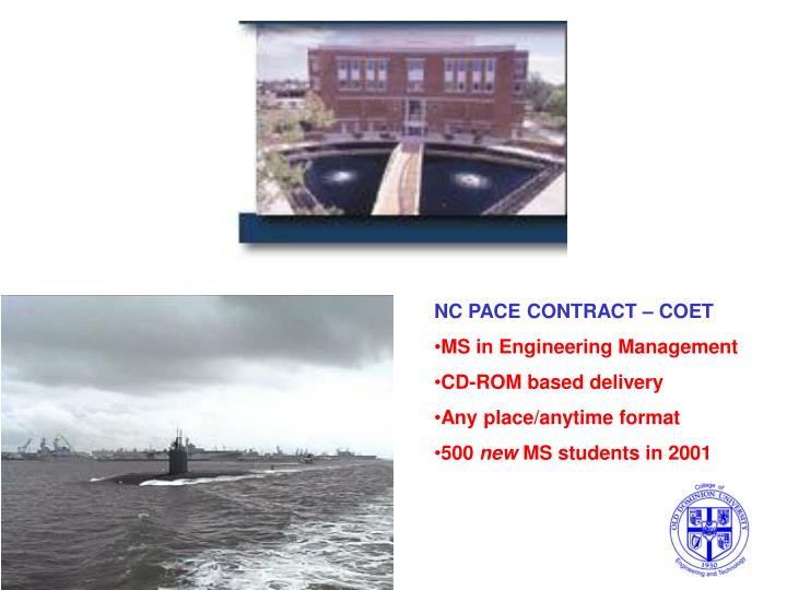 NC PACE CONTRACT – COET