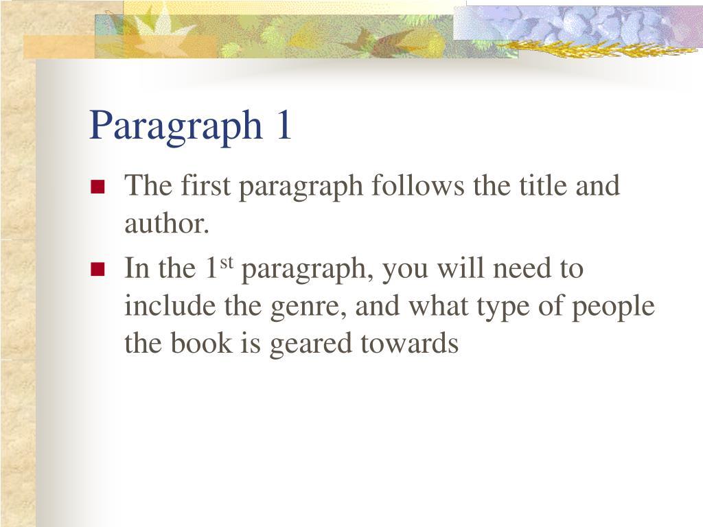 Paragraph 1