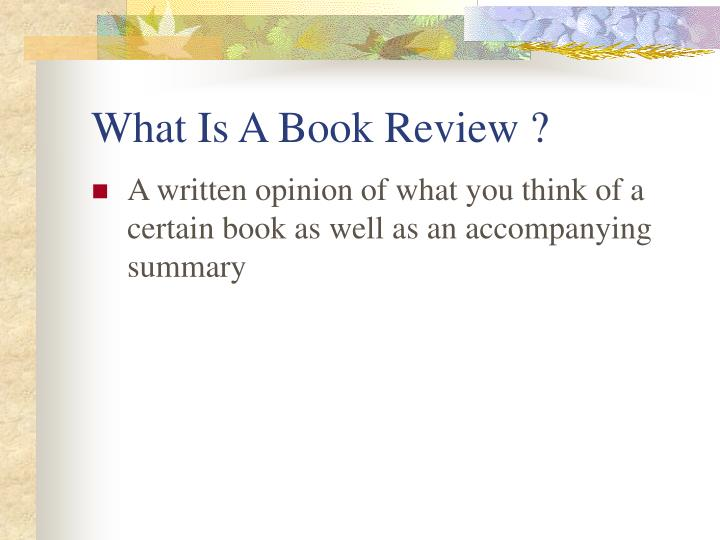 What is a book review l.jpg