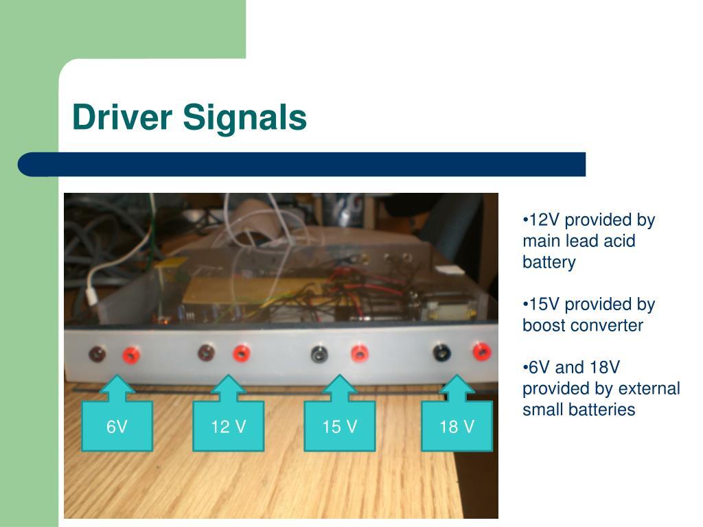 Driver Signals