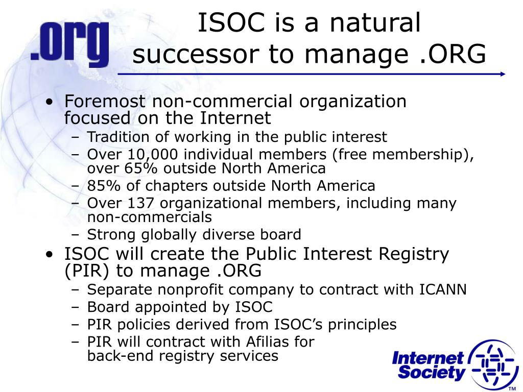 ISOC is a natural