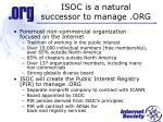 isoc is a natural successor to manage org