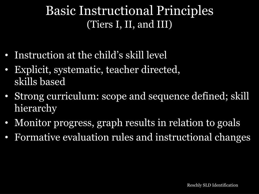 Basic Instructional Principles