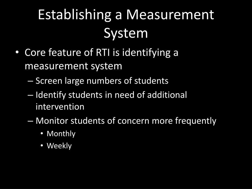 Establishing a Measurement System