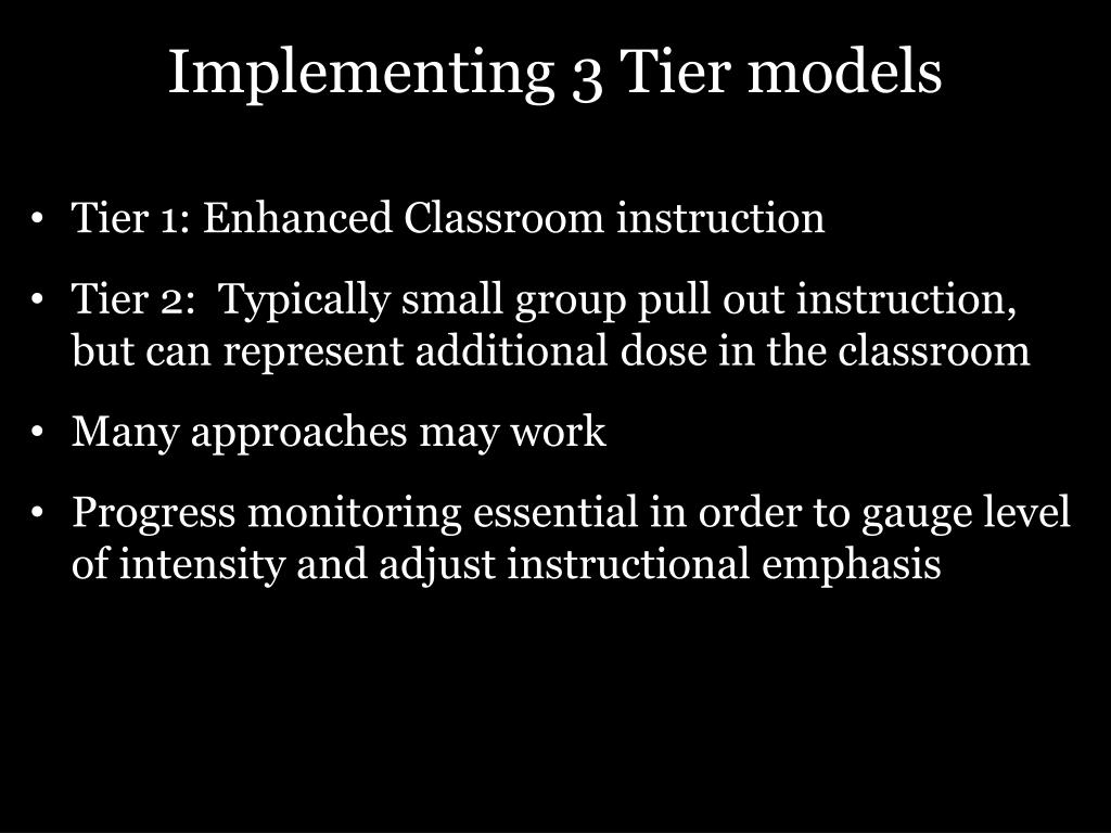 Implementing 3 Tier models