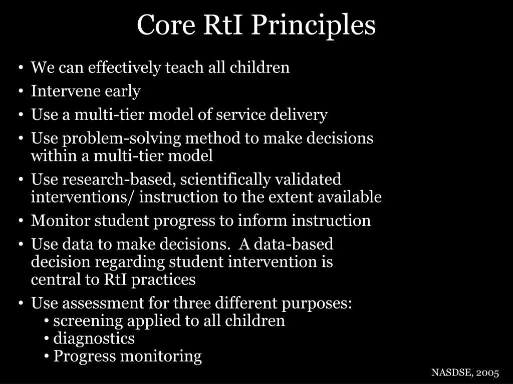 Core RtI Principles