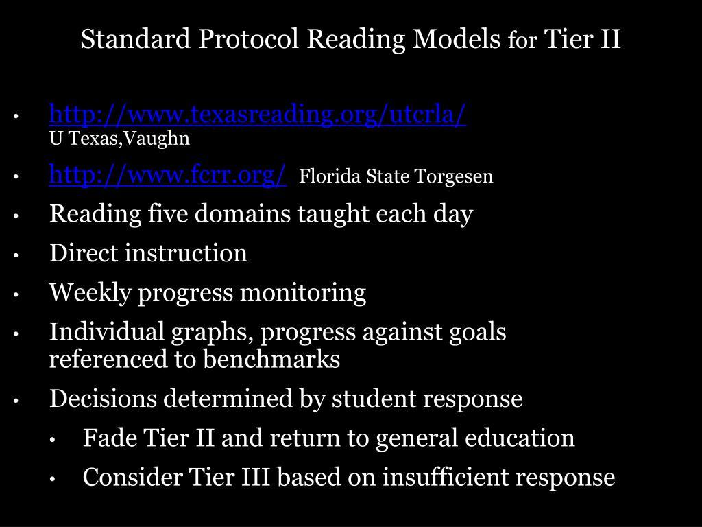 Standard Protocol Reading Models