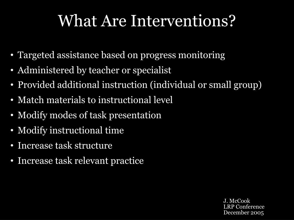 What Are Interventions?
