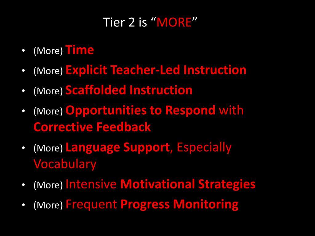 """Tier 2 is """""""