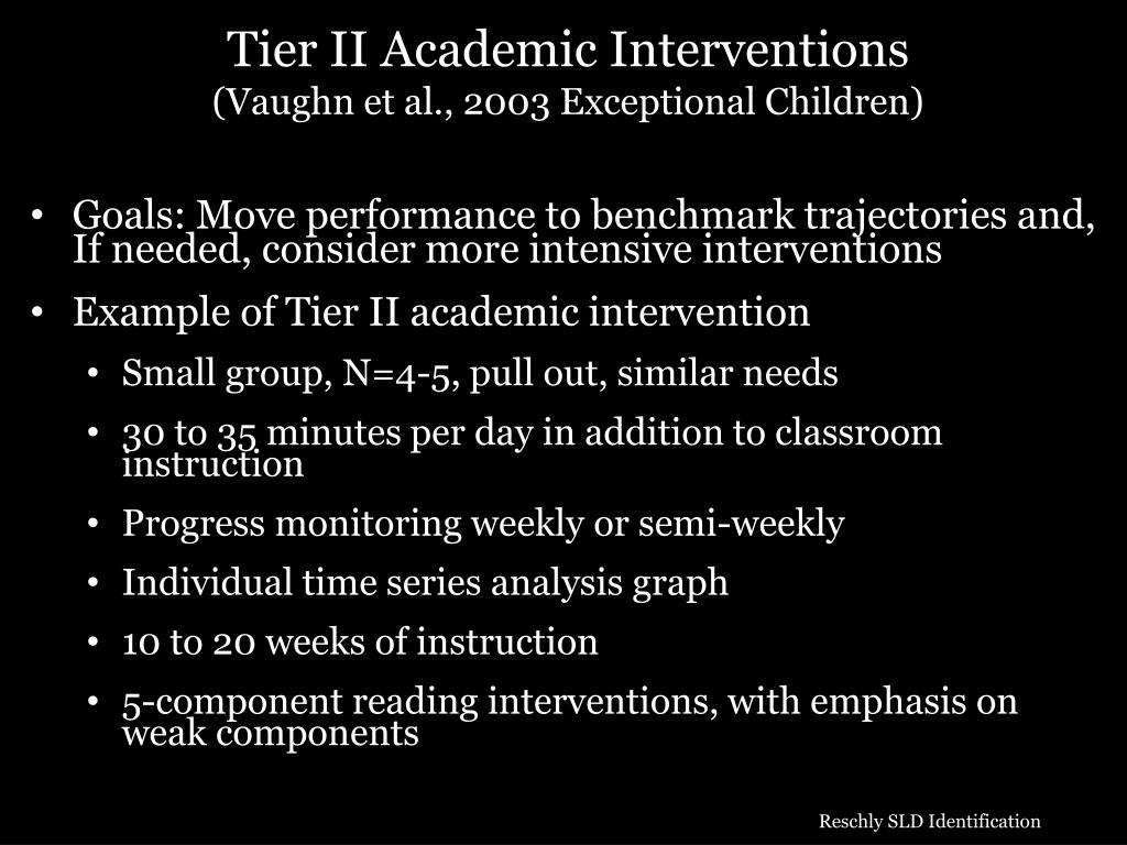 Tier II Academic Interventions