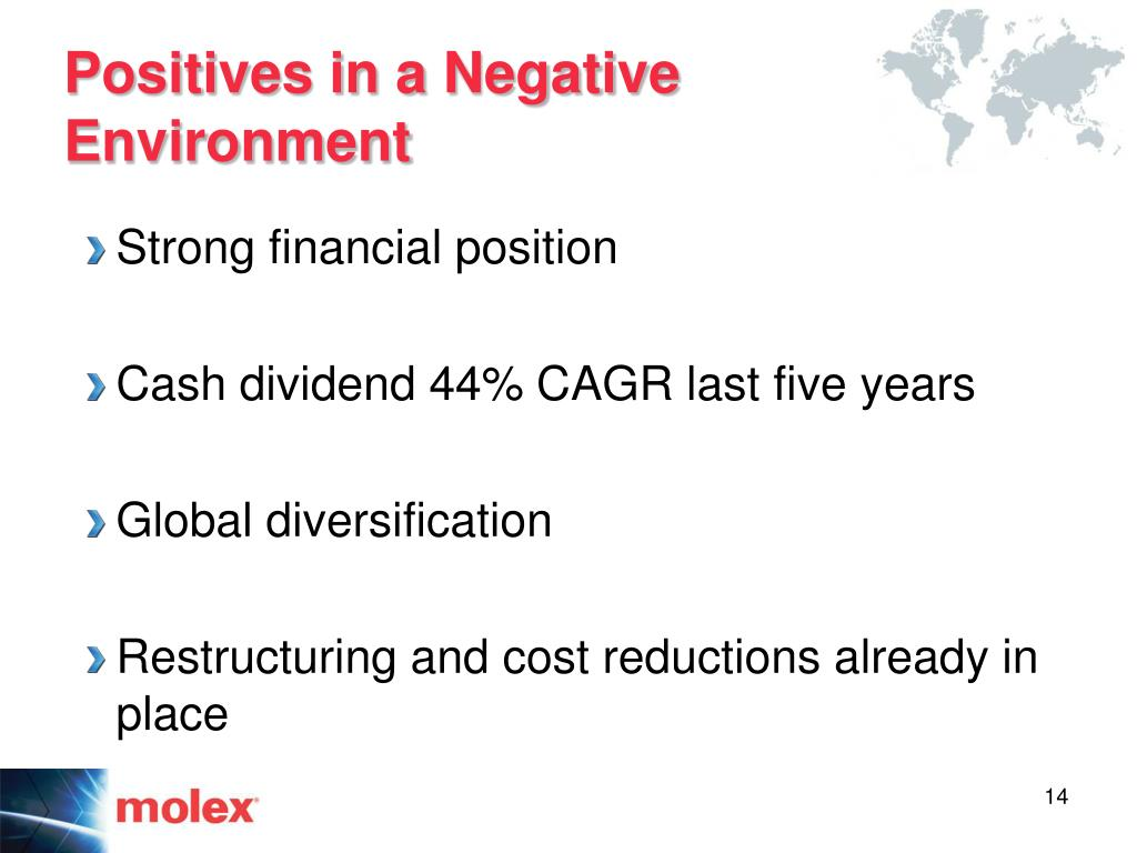 Positives in a Negative Environment