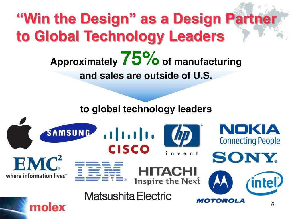 """""""Win the Design"""" as a Design Partner to Global Technology Leaders"""