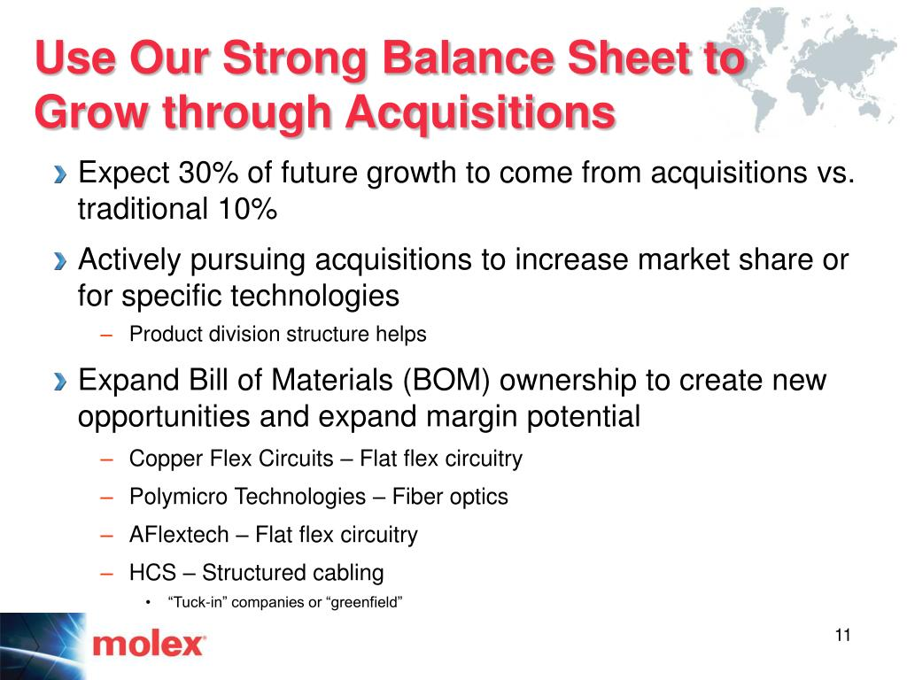 Use Our Strong Balance Sheet to