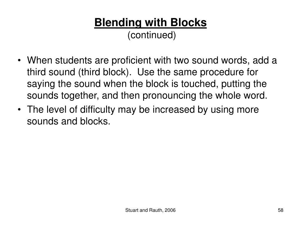 Blending with Blocks