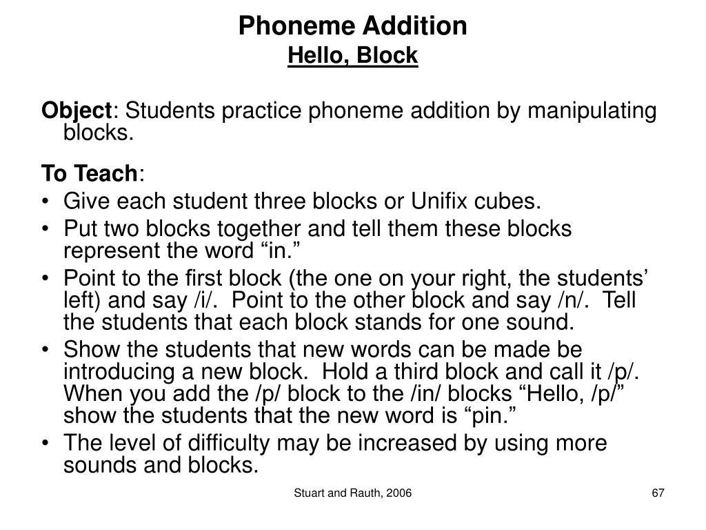 Phoneme Addition