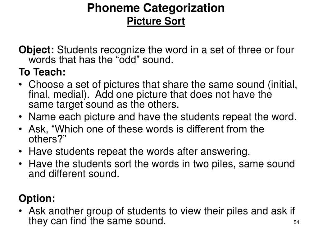 Phoneme Categorization