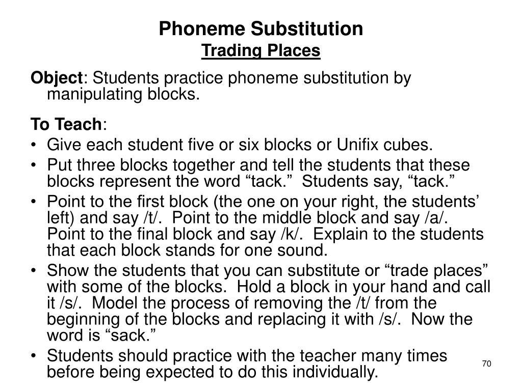 Phoneme Substitution