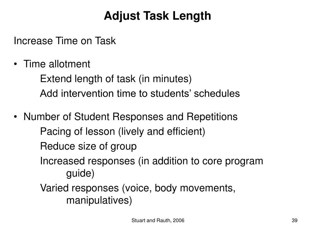 Adjust Task Length